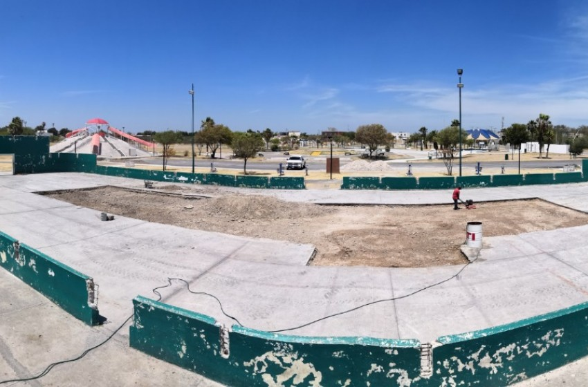 Remodelan canchas del parque Polvo Enamorado