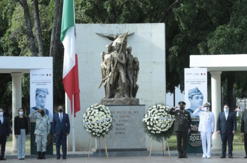 Conmemora gobernador Francisco García Cabeza de Vaca 174 aniversario de la gesta heroica de Chapultepec